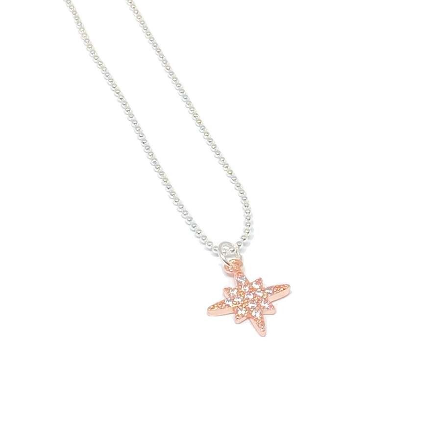 Krista Sparkle Necklace - Rose Gold