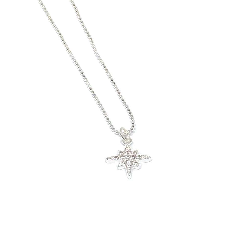 Krista Sparkle Necklace - Silver