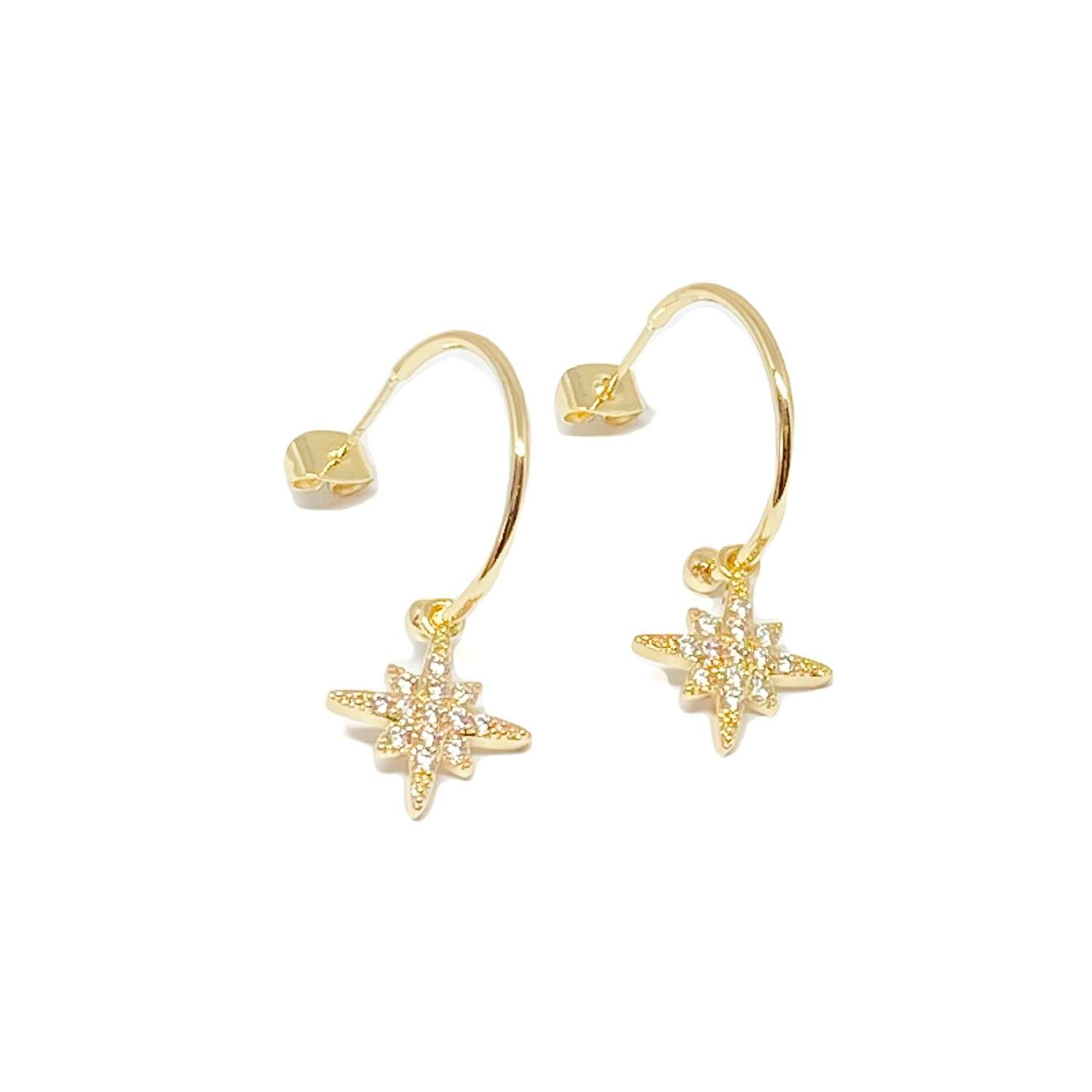 Krista Sterling Silver Hoop Earrings - Gold