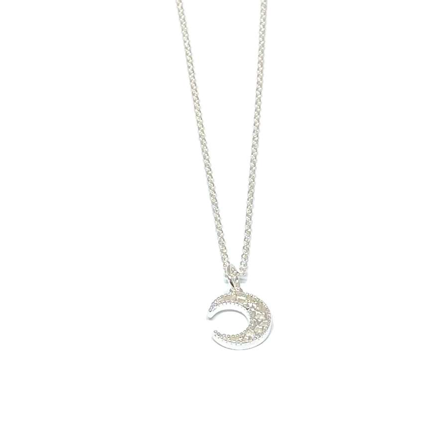 Luna Moon Necklace - Silver