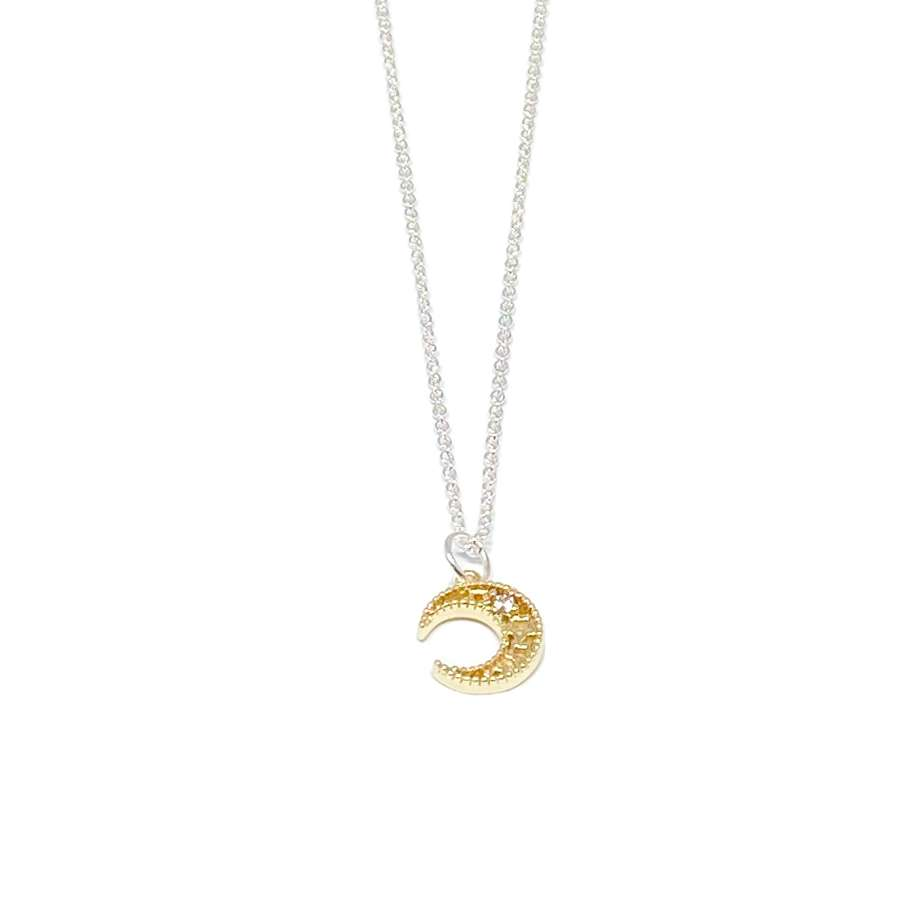 Luna Moon Necklace - Gold