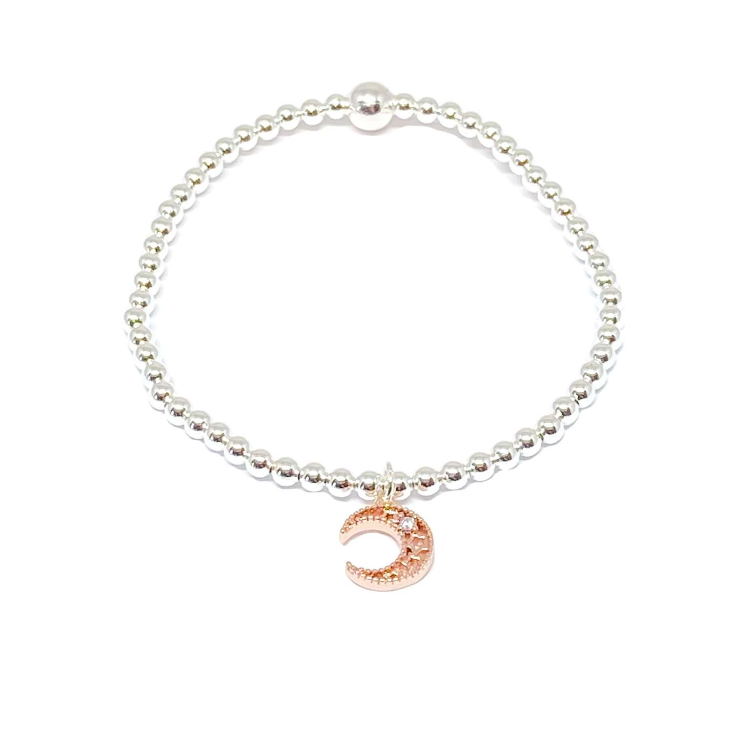 Luna Moon Bracelet - Rose Gold