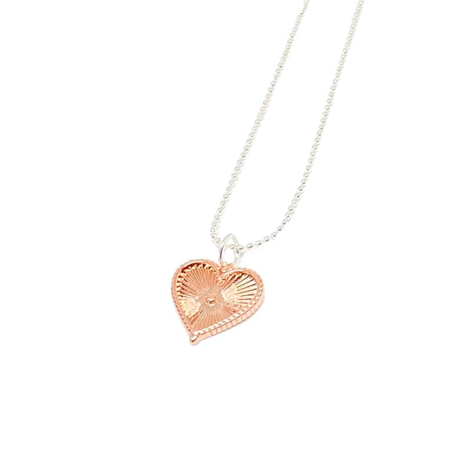 Lottie Heart Necklace - Rose Gold