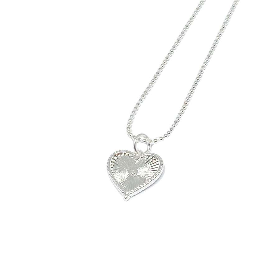 Lottie Heart Necklace - Silver