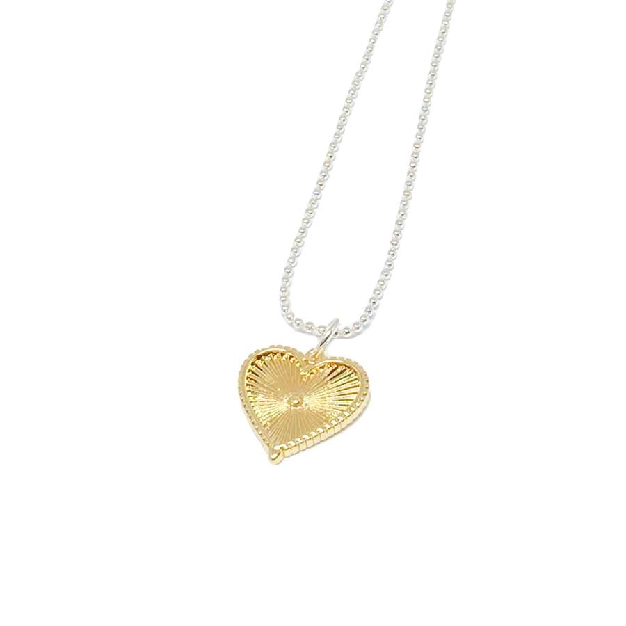Lottie Heart Charm Necklace - Gold