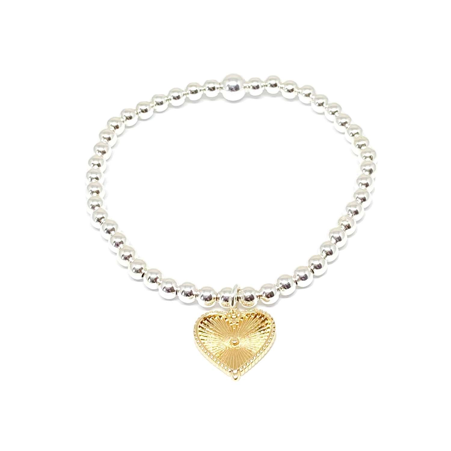 Lottie Heart Charm Bracelet - Gold