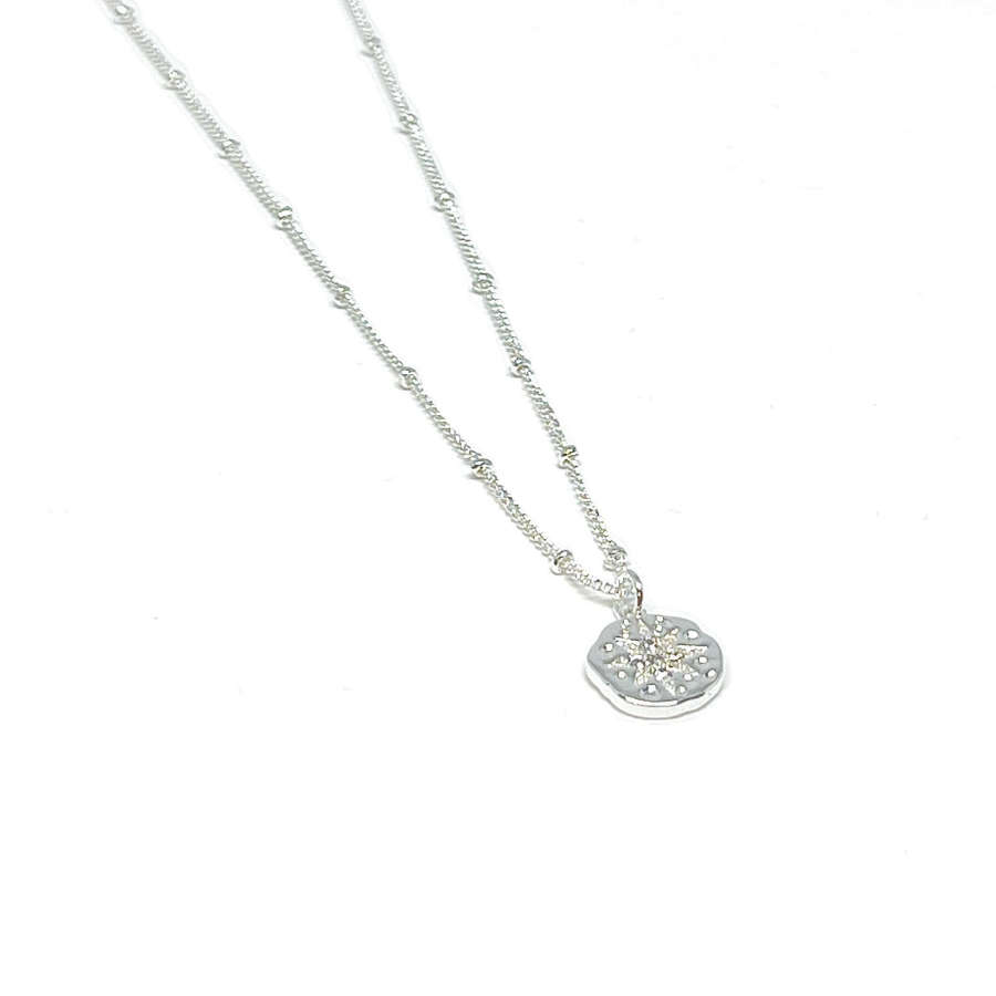 Rosalie Charm Necklace - Silver