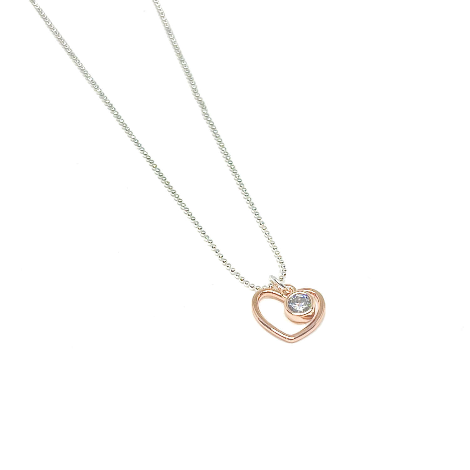 Selena Heart Necklace - Rose Gold