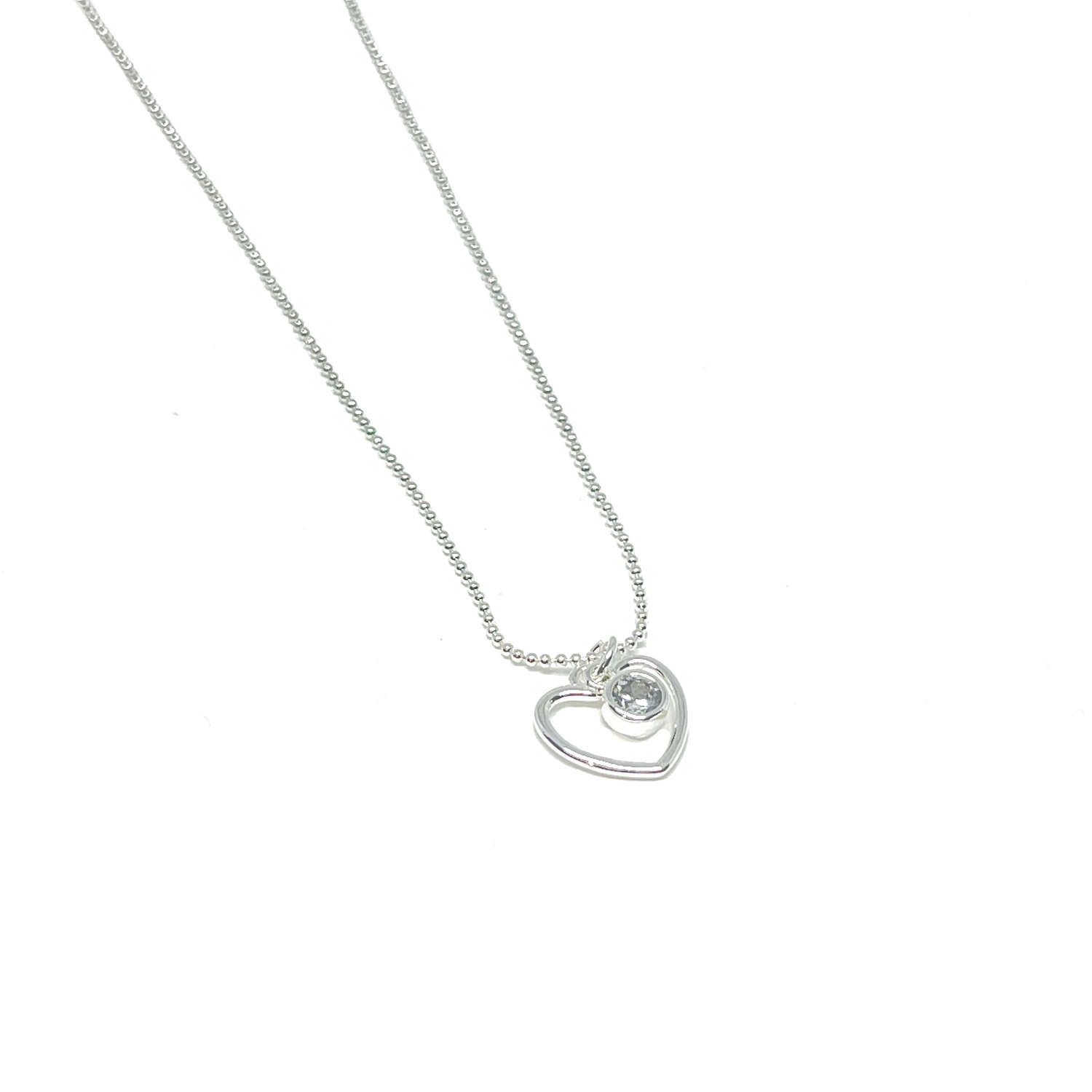 Selena Heart Necklace - Silver