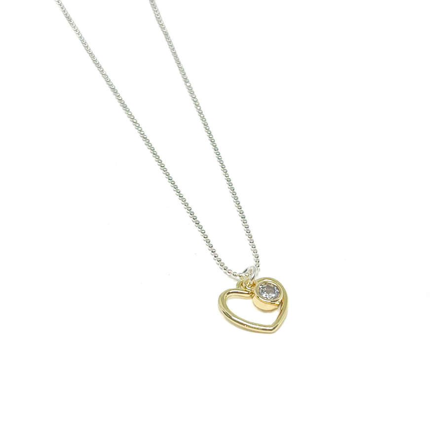 Selena Heart Necklace - Gold