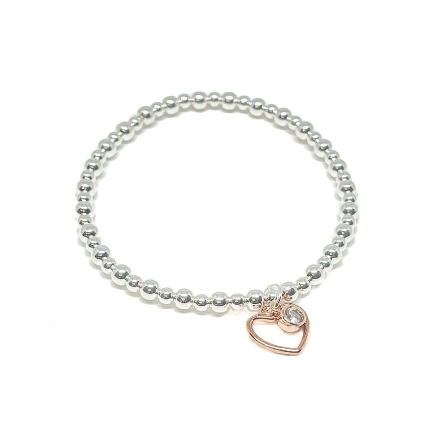 Selena Heart Bracelet - Rose Gold