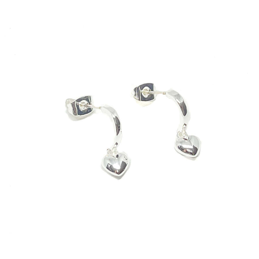 Maisy Heart Sterling Silver Earrings - Silver