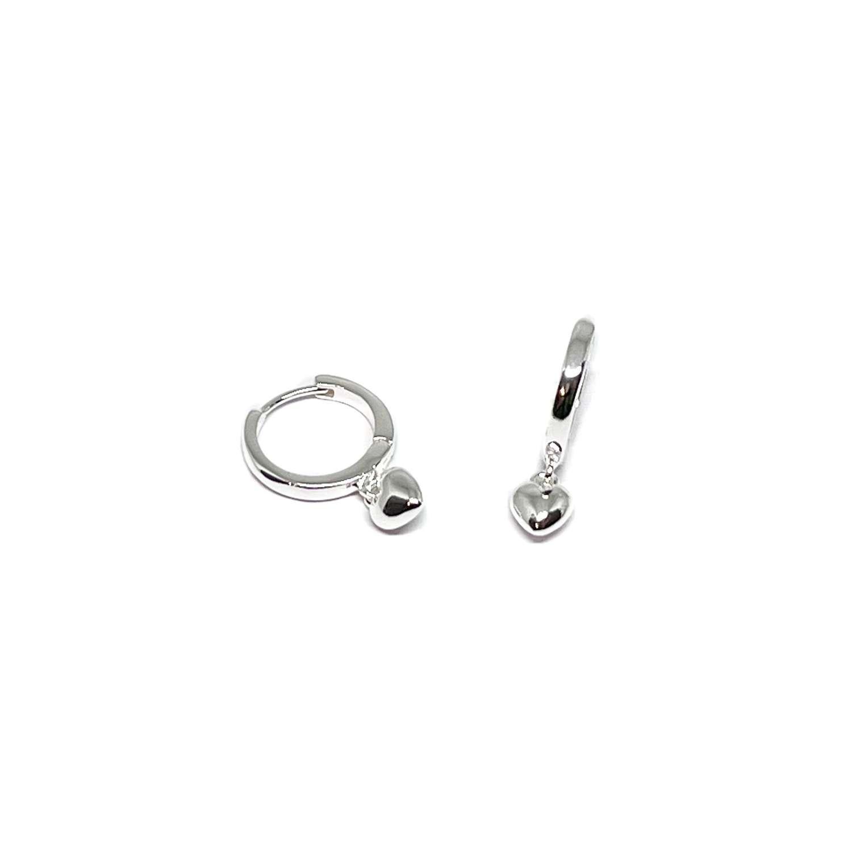 Maisy Heart Sterling Silver Earrings - Silver