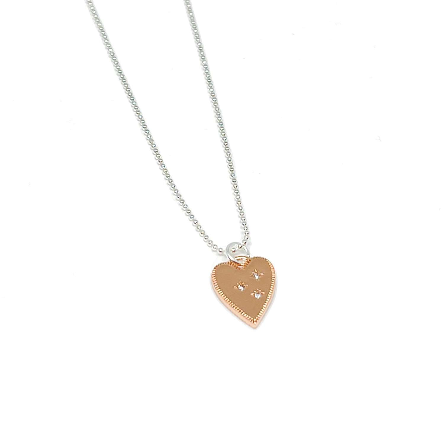 Lucy Heart Necklace - Rose Gold