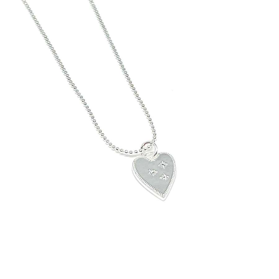 Lucy Heart Necklace - Silver
