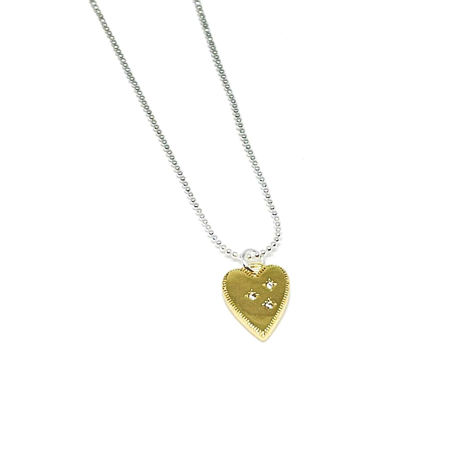 Lucy Heart Necklace - Gold