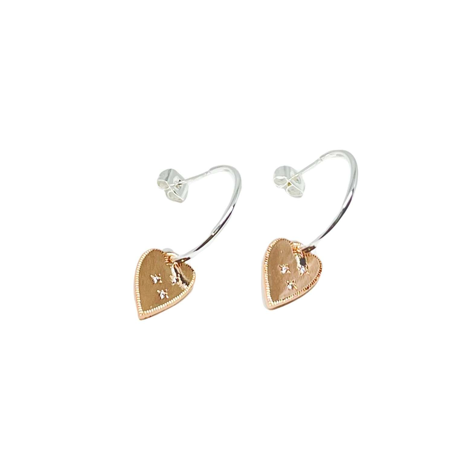 Lucy Sterling Silver Earring - Rose Gold