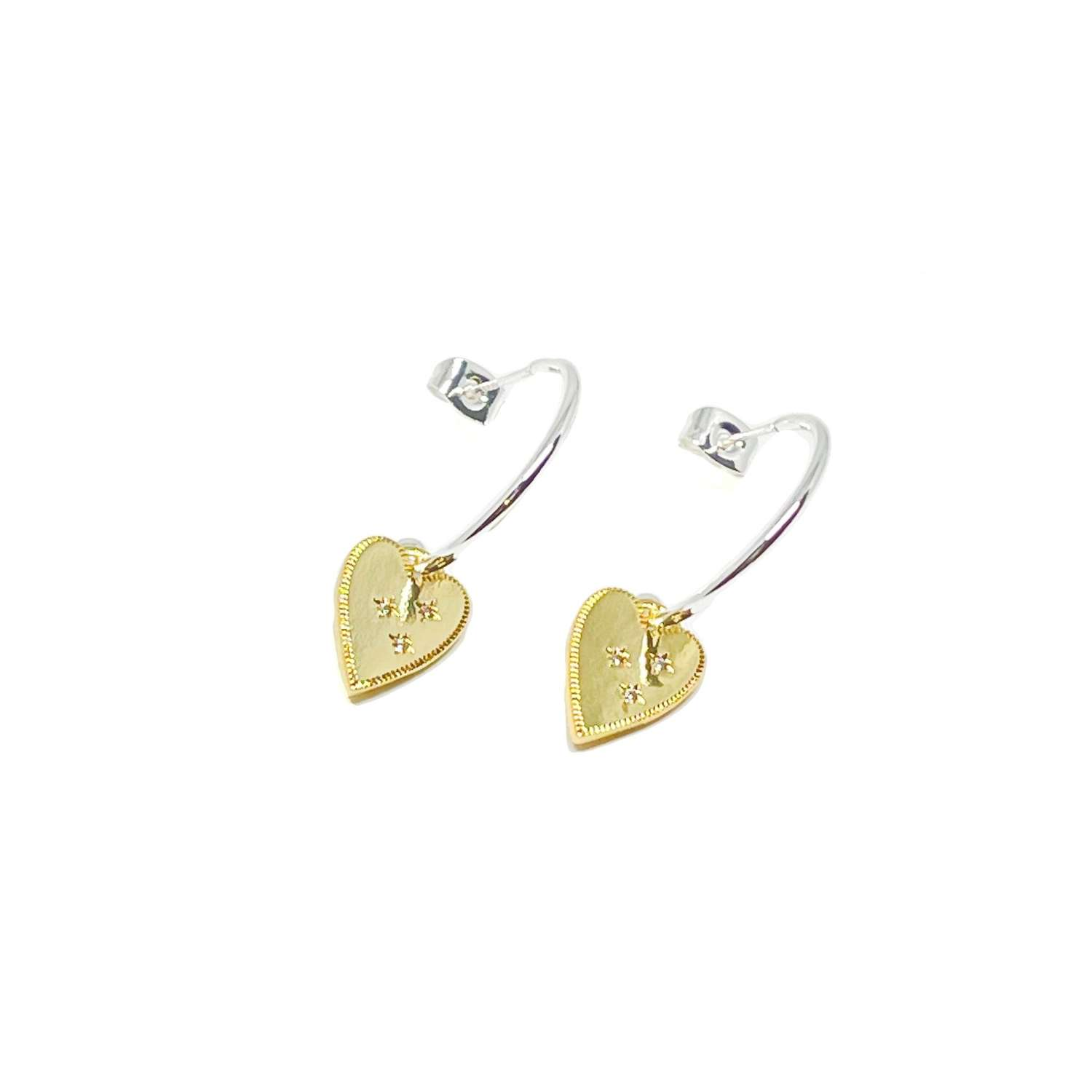 Lucy Sterling Silver Earrings - Gold