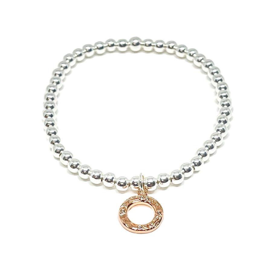 Bonnie Circle Bracelet - Rose Gold
