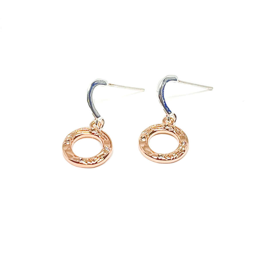Bonnie Sterling Silver Earrings - Rose Gold