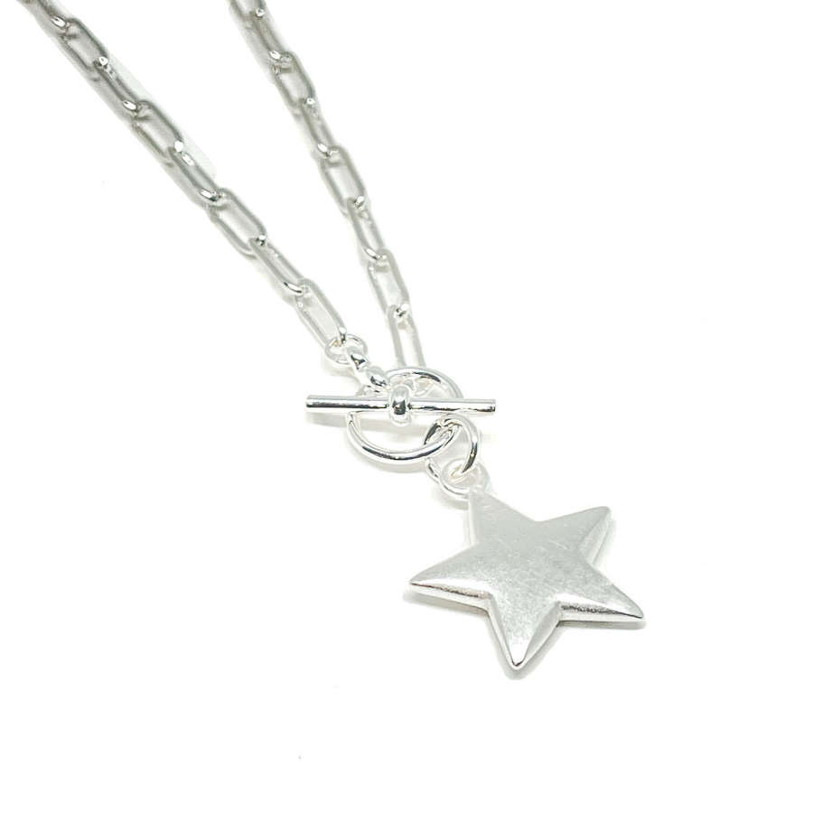 Florence Link Necklace - Silver