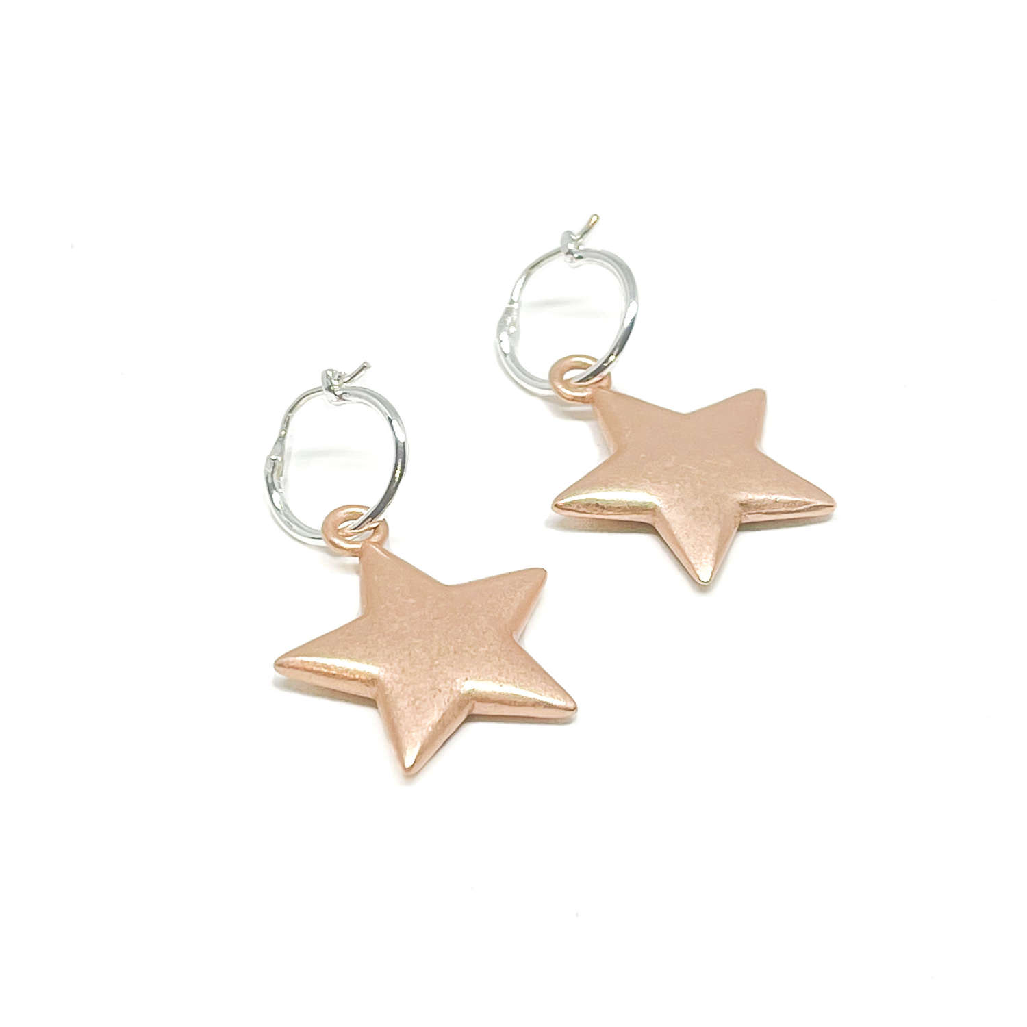 Florence Sterling Silver Earrings - Rose Gold