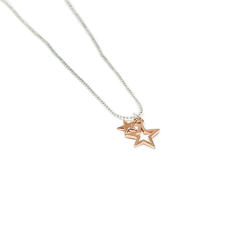 Layla Star Necklace - Rose Gold