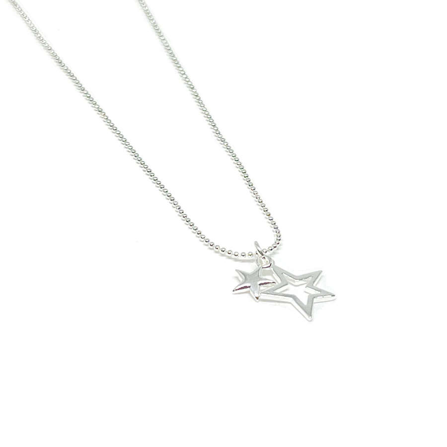 Layla Star Necklace - Silver