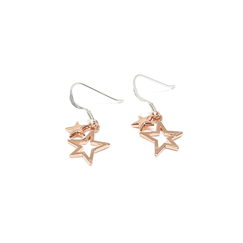 Layla Sterling Silver Earrings - Rose Gold