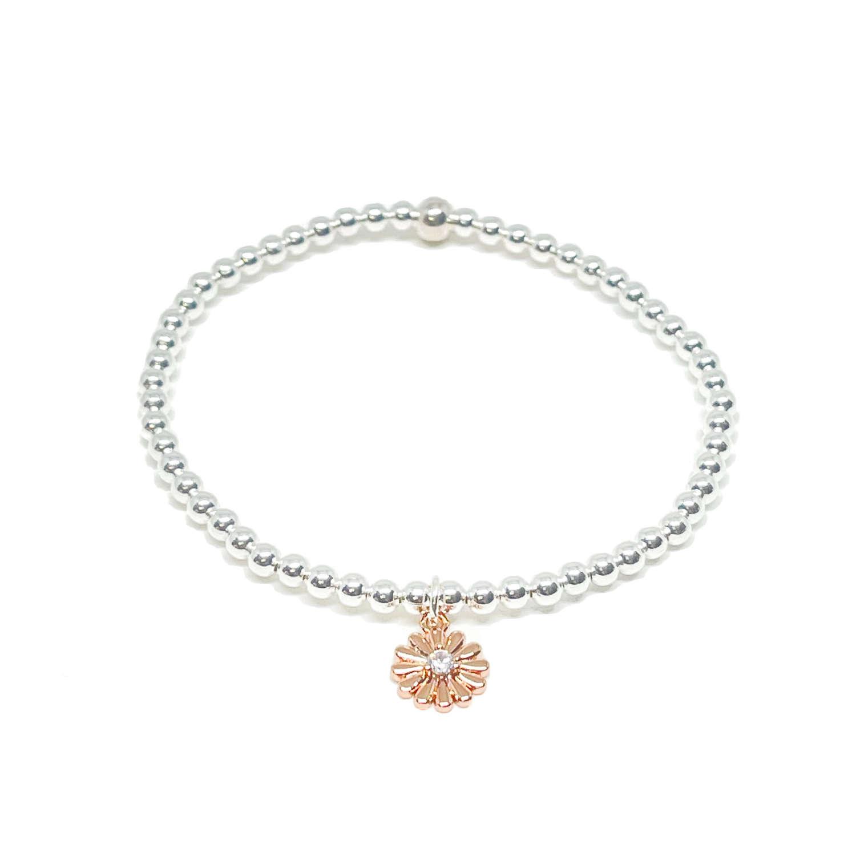 Freya Flower Bracelet - Rose Gold