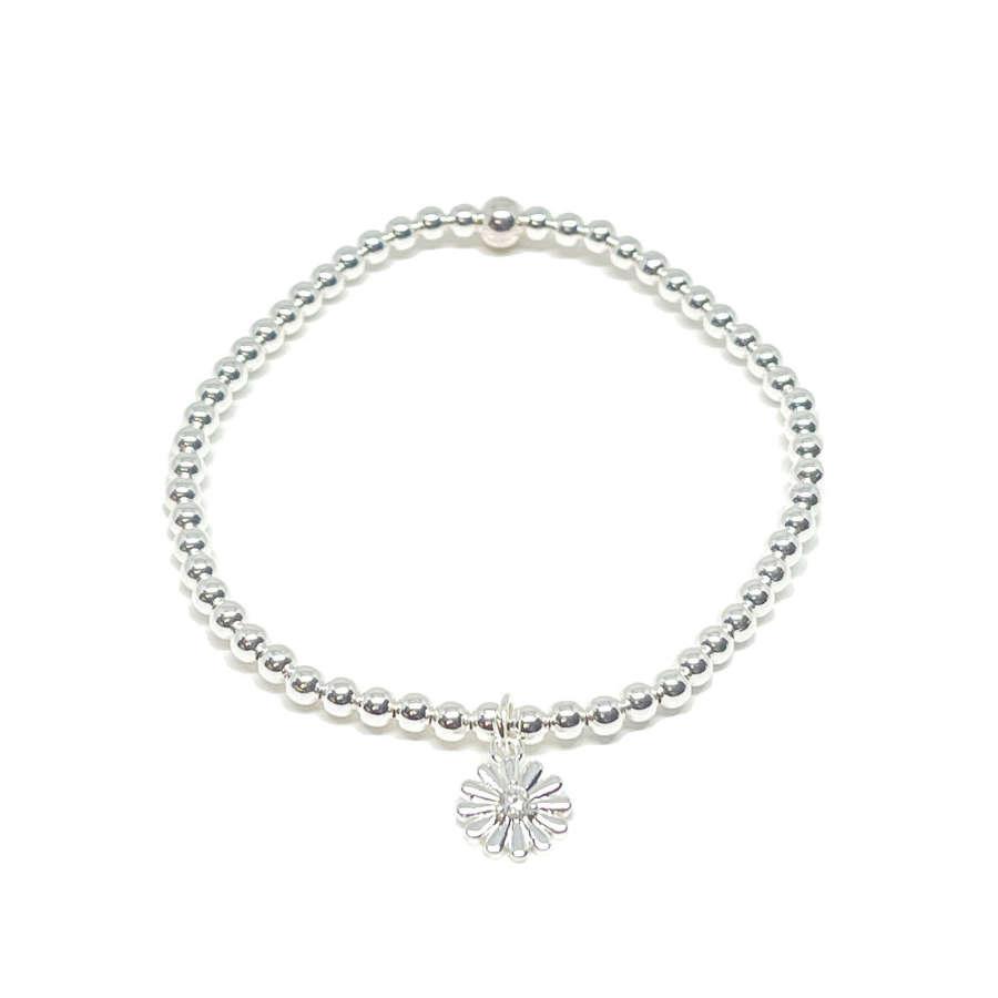 Freya Flower Bracelet - Silver