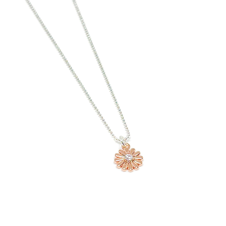 Freya Flower Necklace - Rose Gold