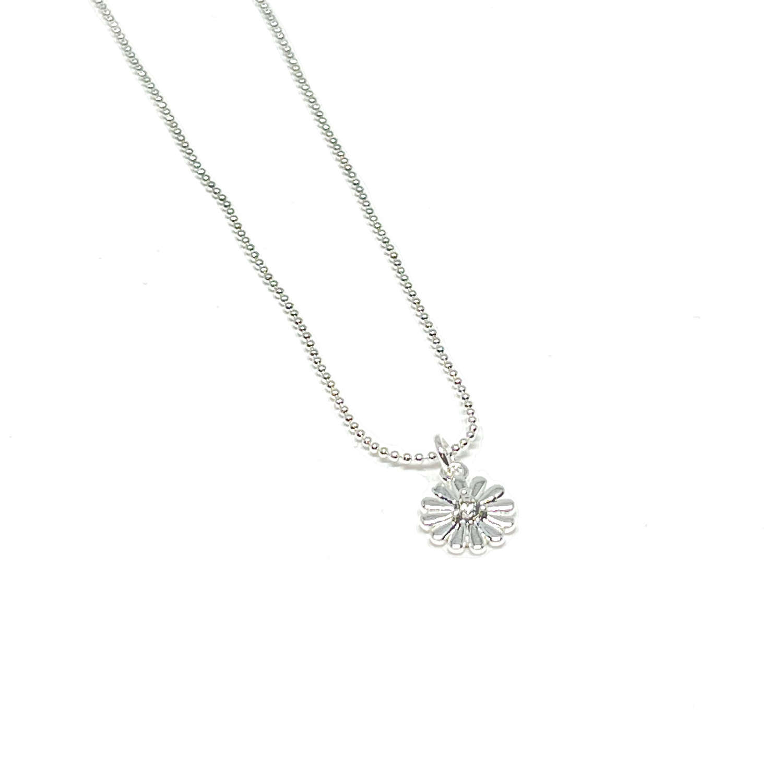 Freya Flower Necklace - Silver