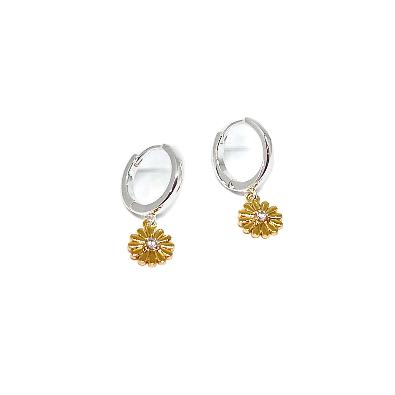 Freya Sterling Silver Earrings - Rose Gold