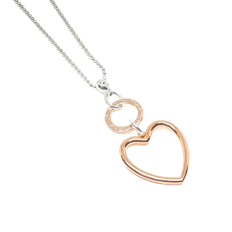 Athena Heart Necklace - Rose Gold