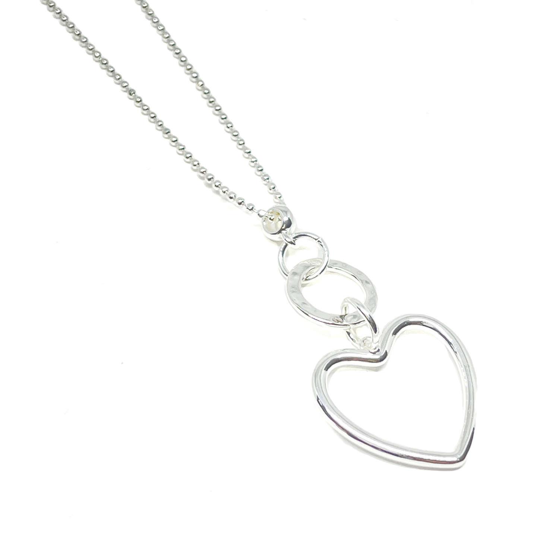 Athena Heart Necklace - Silver