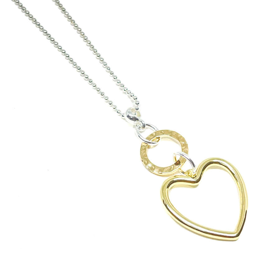 Athena Heart Necklace - Gold