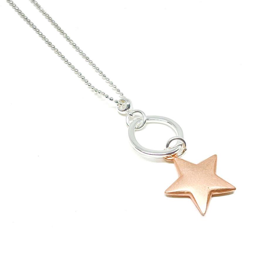 Athena Star Necklace - Rose Gold