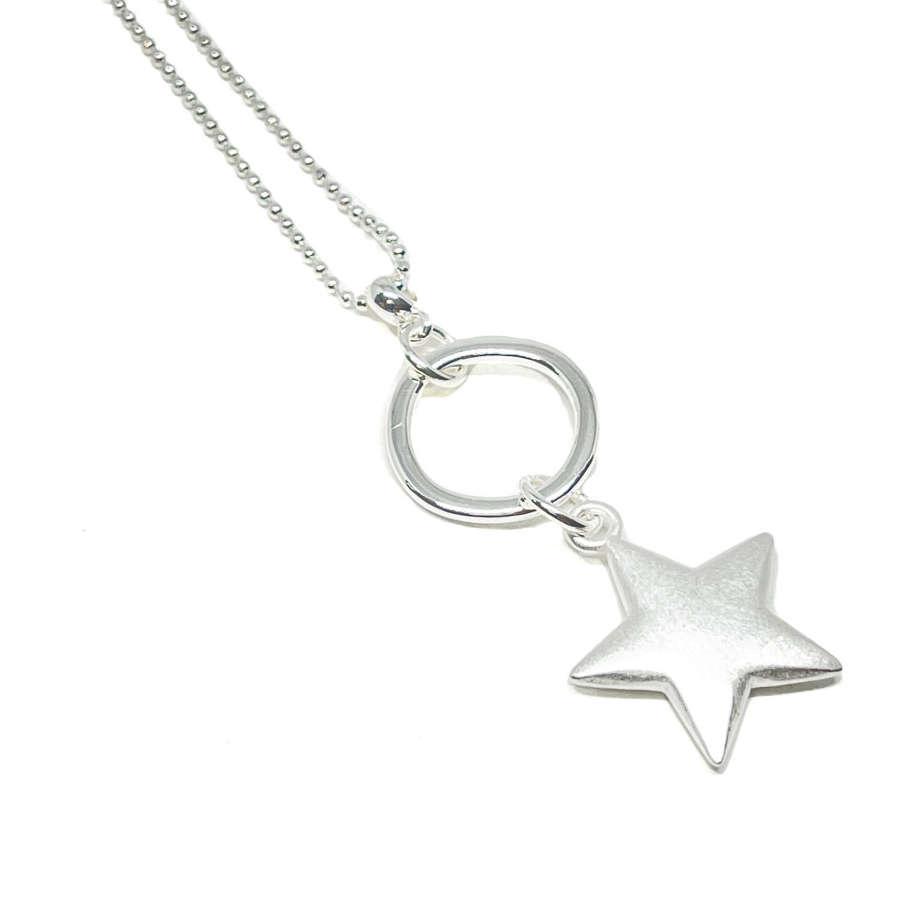 Athena Star Necklace - Silver