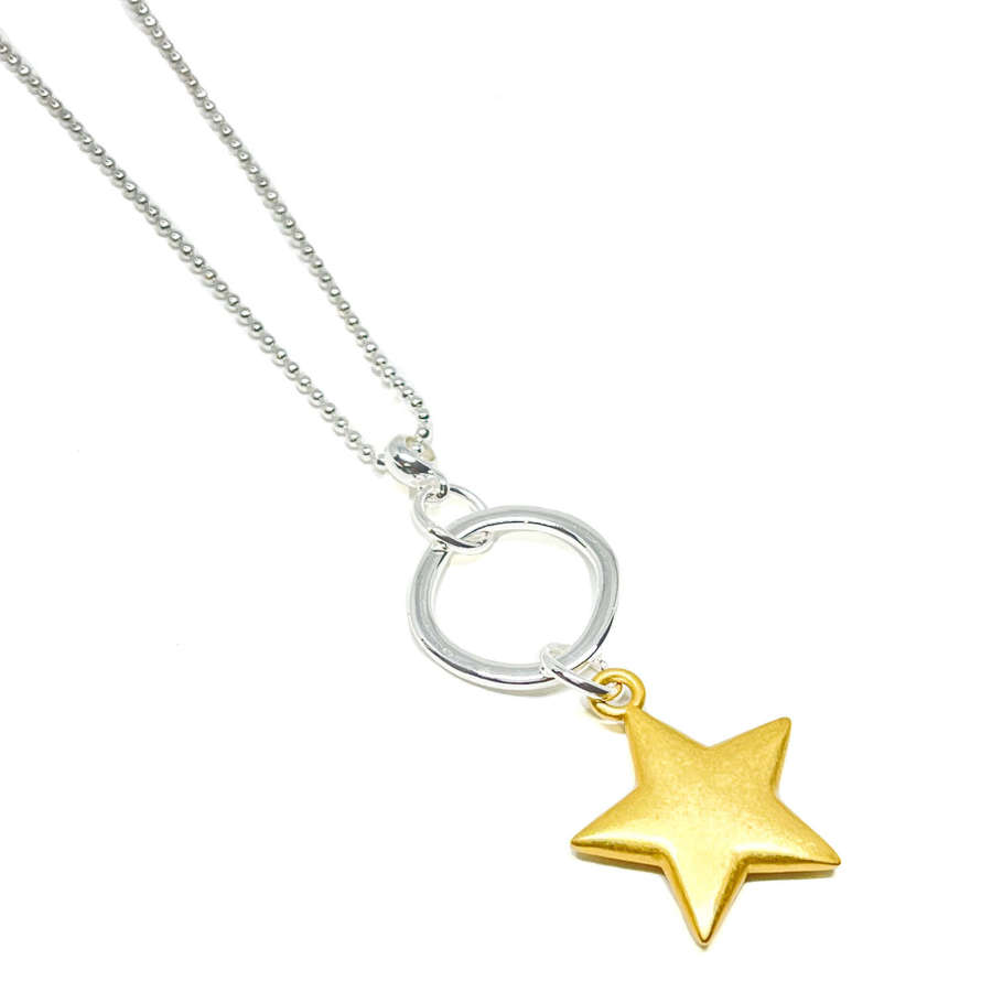 Athena Star Necklace - Gold